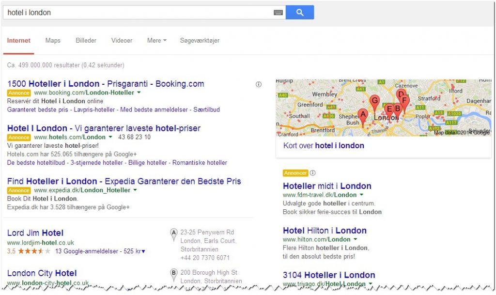 brug google som standard søgemaskine