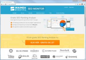Waimea SEO Monitor - Gratis Ranking Analyser