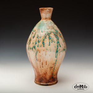 Høj Vase i Raku