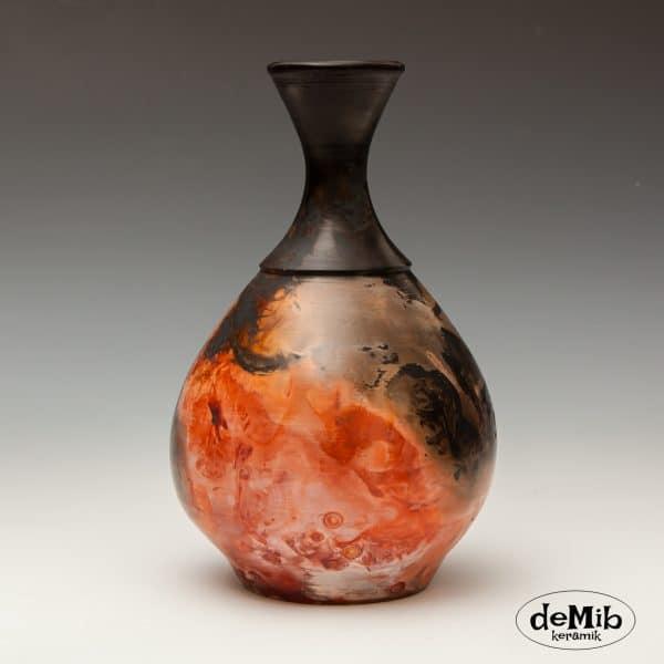 Meget smuk Pitfire vase i Porcelæn