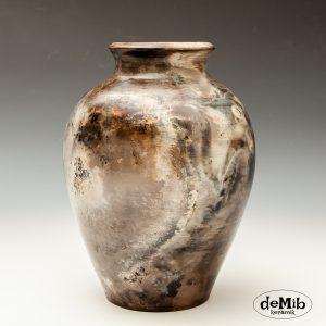 Smuk Pitfire Vase med rund bund