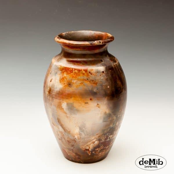 Unik Pitfire Vase i Stentøj