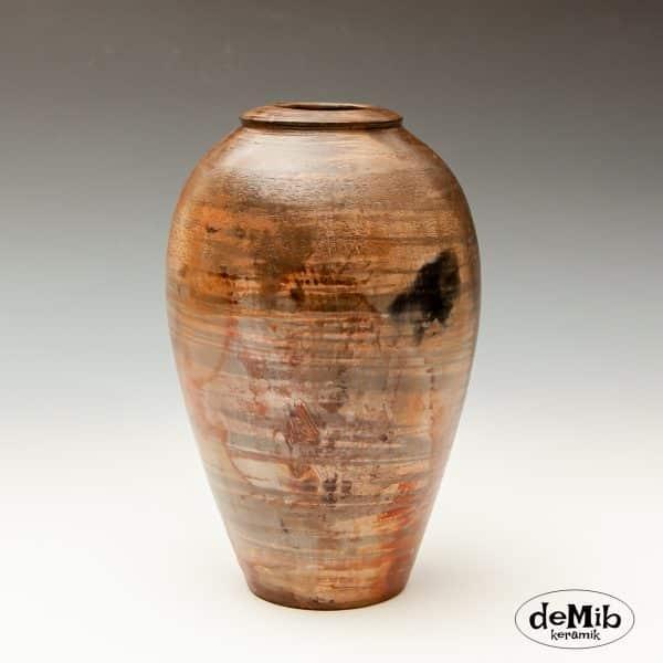 Lille Pitfire Vase i Mørke Toner